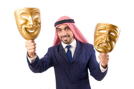 Arab man hypocrisy concept Stock Photo - 18802991
