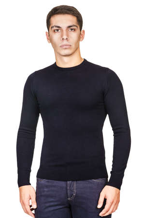 Male sweater isolated on the white photo