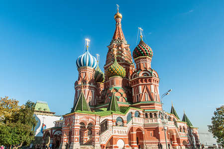 Famous st Vasily Blessed cathedral in Moscow Stock Photo - 18744980