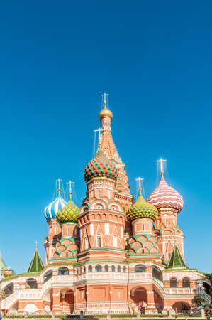 minin: Famous st Vasily Blessed cathedral in Moscow