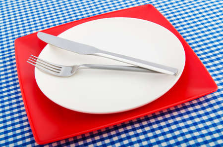 Table setting with knife and fork Stock Photo - 18744886