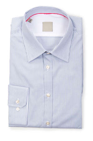 Nice male shirt isolated on the white Stock Photo - 18744950