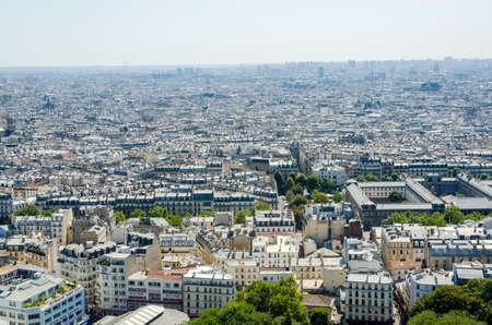 Skyline of Paris on bright summer day Stock Photo - 18744987