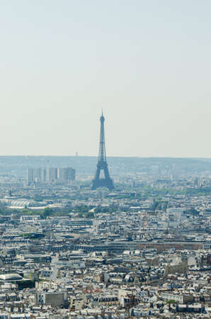 Skyline of Paris on bright summer day Stock Photo - 18744954