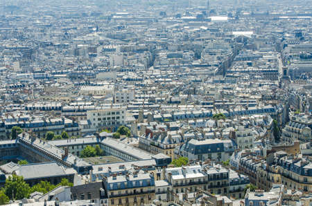Skyline of Paris on bright summer day Stock Photo - 18745016