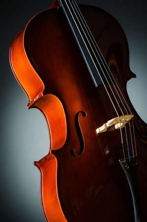 Violin in dark room  - music concept Stock Photo - 18744867