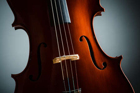 Violin in dark room  - music concept Stock Photo - 18744691
