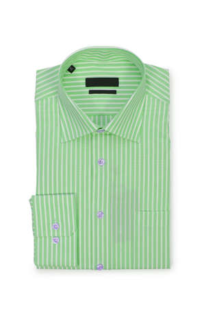 Nice male shirt isolated on the white Stock Photo - 18744650