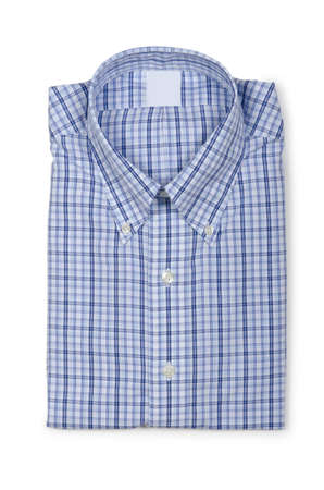 Nice male shirt isolated on the white Stock Photo - 18744940