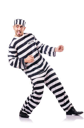 Convict criminal in striped uniform Stock Photo - 18804391
