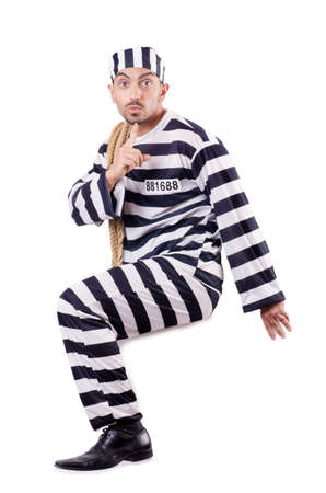Convict criminal in striped uniform Stock Photo - 18804558