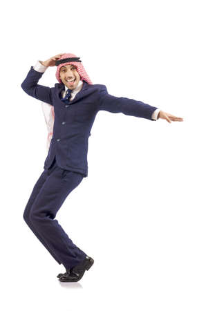 thoub: Arab man dancing from joy