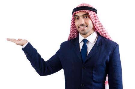 Arab businessman isolated on white Stock Photo - 18805112