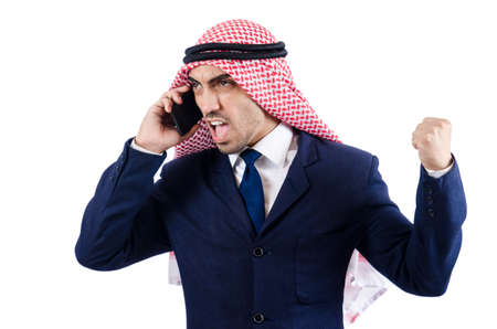 Arab businessman isolated on white Stock Photo - 18805120