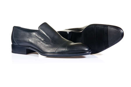 Fashion concept with male shoes on white Stock Photo - 19008890