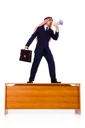 Arab businessman isolated on white Stock Photo - 19005397