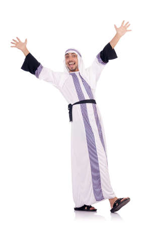 Arab man isolated on the white Stock Photo - 19005163