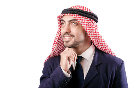 Arab businessman isolated on the white Stock Photo - 19005635