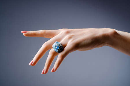 Engagement ring on the hand Stock Photo - 19013041