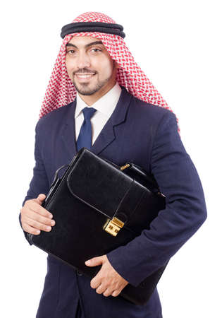 Arab businessman isolated on the white Stock Photo - 19005671