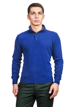 Male sweater isolated on the white Stock Photo - 19029152