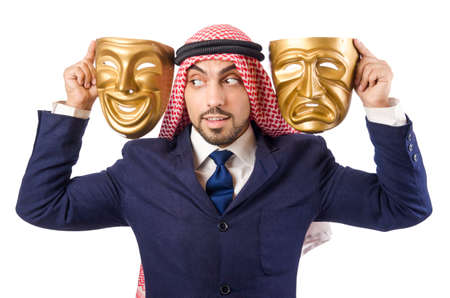 Arab man hypocrisy concept Stock Photo - 19005677