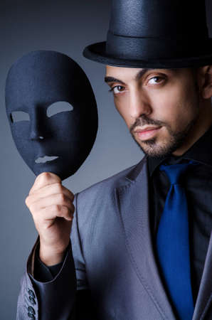 Man with black mask in studio Stock Photo - 19005720