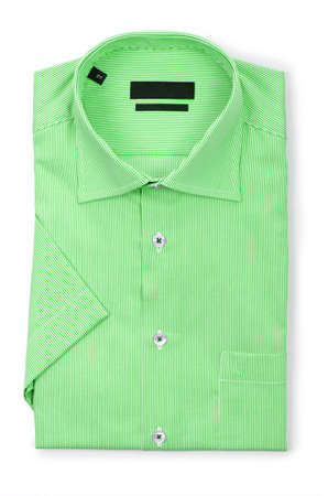 Nice male shirt isolated on the white Stock Photo - 19013401