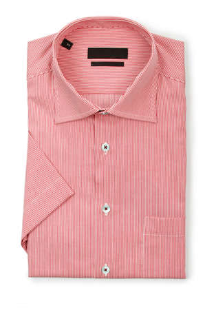 Nice male shirt isolated on the white Stock Photo - 19014046