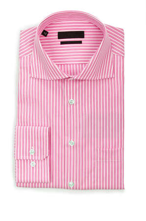 Nice male shirt isolated on the white Stock Photo - 19013301