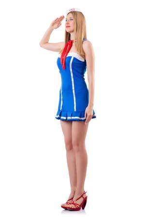 Woman sailor in marine concept Stock Photo - 19005152