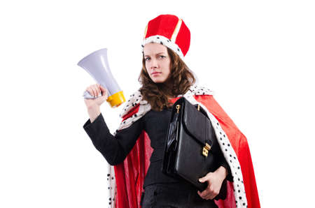 Woman queen in funny concept Stock Photo - 19005551