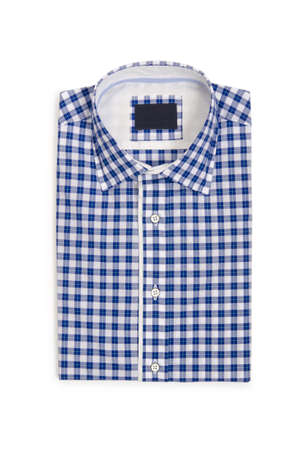 Nice male shirt isolated on the white Stock Photo - 19012753