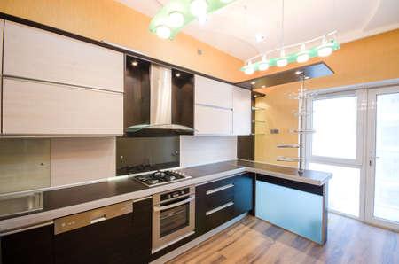 Interior of modern kitchen photo