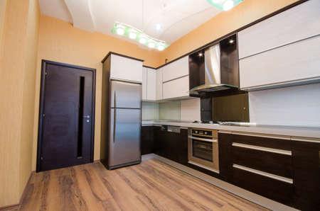 refrigerator kitchen: Interior of modern kitchen Stock Photo
