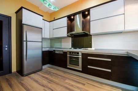 spotřebič: Interiér moderní kuchyně