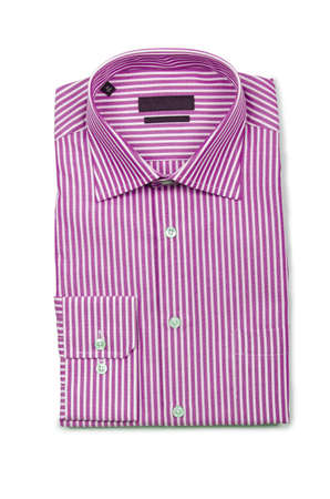 Nice male shirt isolated on the white Stock Photo - 19013269