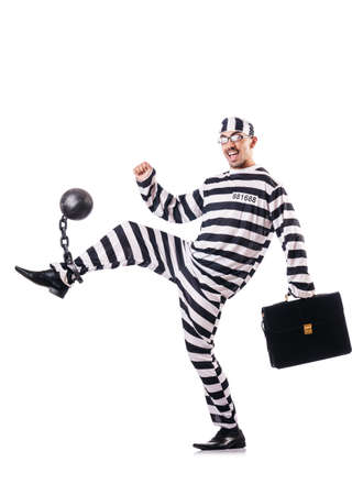 Convict criminal in striped uniform Stock Photo - 19032305