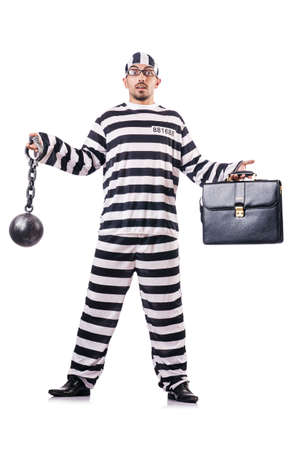 Convict criminal in striped uniform Stock Photo - 19032307
