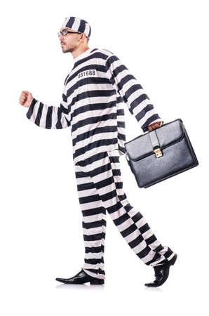 Convict criminal in striped uniform Stock Photo - 19028977