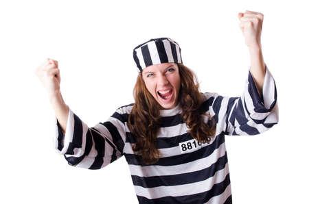 Convict criminal in striped uniform Stock Photo - 19032309