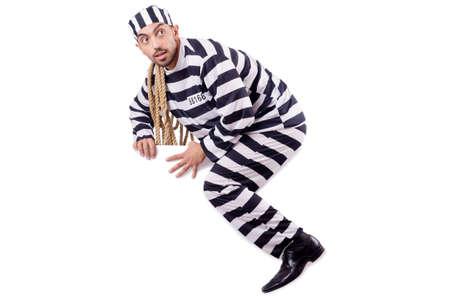 Convict criminal in striped uniform Stock Photo - 19028890