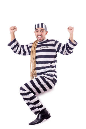 Convict criminal in striped uniform Stock Photo - 19028920