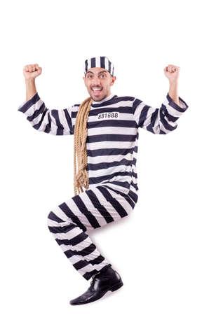 Convict criminal in striped uniform Stock Photo - 19028920