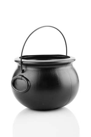 Empty pot isolated on the white Stock Photo - 19037363