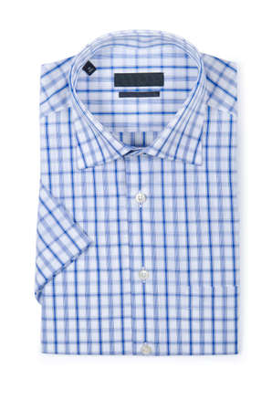 Nice male shirt isolated on the white Stock Photo - 19039772