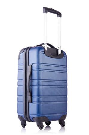 Travel suitcase isolated on white Stock Photo - 19038809