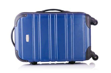 Travel suitcase isolated on white Stock Photo - 19039686