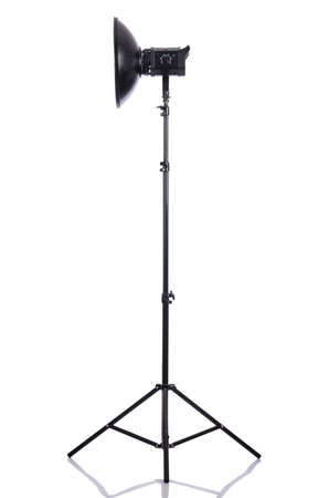 Studio light stand isolated on the white Stock Photo - 19036856