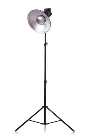 Studio light stand isolated on the white Stock Photo - 19036857